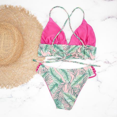 即納 A-string reversible long under bikini Vivid pinky