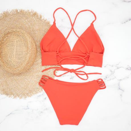 即納 A-string long under solid bikini Modern