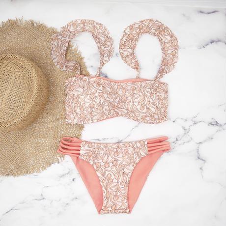 即納 Jointed frill reversible bandeau bikini Lily