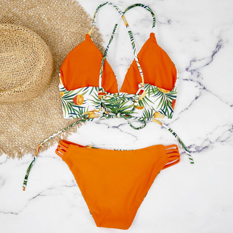 即納 A-string reversible long under bikini Citrus