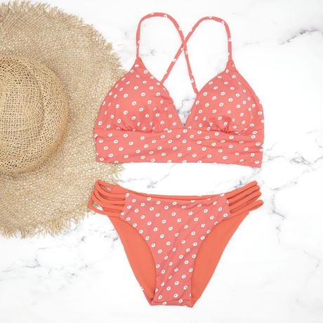 即納 A-string long under reversible bikini Circle orange