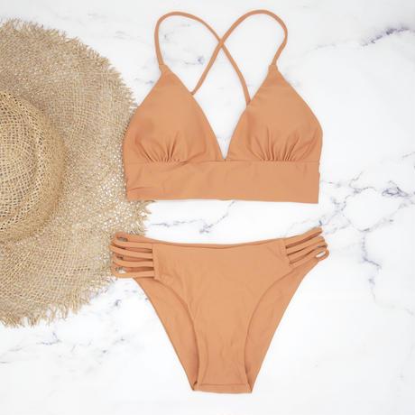 即納 A-string long under solid bikini Bright