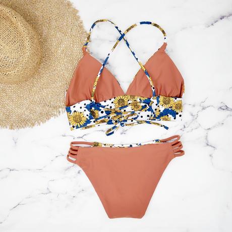 即納 A-string reversible long under bikini Sunflower