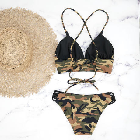 即納 A-string reversible long under bikini Army