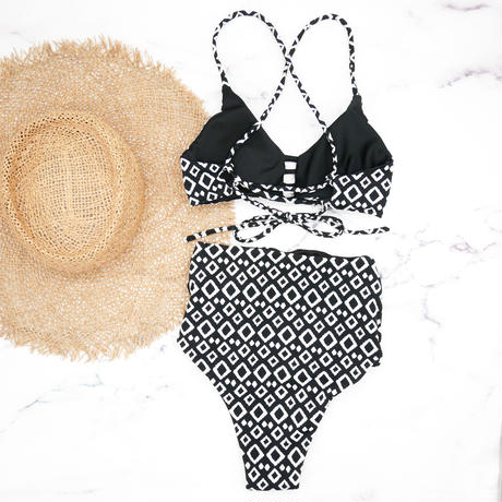 即納 A-string reversible high waist bikini Mono
