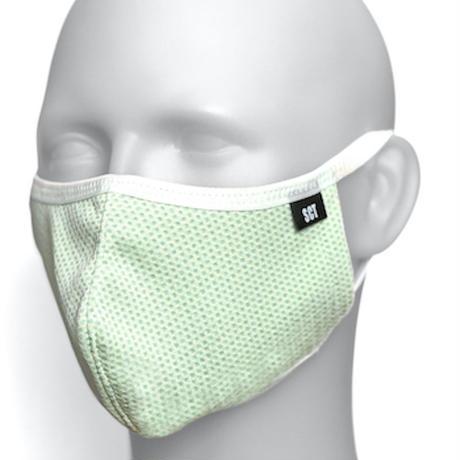 長時間着用が楽-2020放熱通気マスク【日本製】スーパークーリングマスク(放熱・吸熱・遮熱・紫外線カット・抗菌防臭)【ライトイエロー】