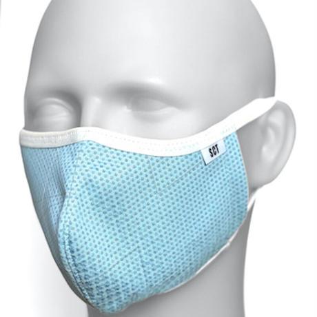 長時間着用が楽なフェイスマスク-ソフトイヤーループ【サイズ調整可】放熱通気マスク【日本製】スーパークーリングマスク(放熱・吸熱・遮熱・紫外線カット・抗菌防臭・抗ウイルス)【ポリゴナル】2021