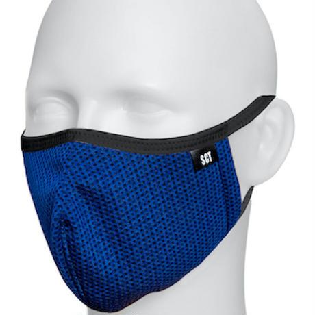 長時間着用が楽なフェイスマスク-ソフトイヤーループ【サイズ調整可】放熱通気マスク【日本製】スーパークーリングマスク(放熱・吸熱・遮熱・紫外線カット・抗菌防臭)【ネイビー】2021