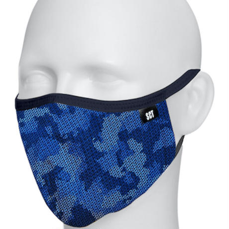 長時間着用が楽なフェイスマスク-ソフトイヤーループ【サイズ調整可】放熱通気マスク【日本製】スーパークーリングマスク(放熱・吸熱・遮熱・紫外線カット・抗菌防臭)【カモフラージュ】2021