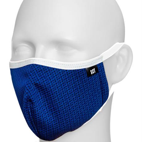 長時間着用が楽-2020放熱通気マスク【日本製】スーパークーリングマスク(放熱・吸熱・遮熱・紫外線カット・抗菌防臭)【ネイビー】