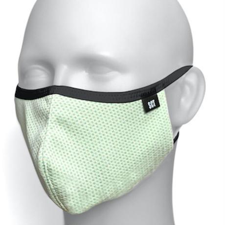 長時間着用が楽なフェイスマスク-ソフトイヤーループ【サイズ調整可】放熱通気マスク【日本製】スーパークーリングマスク(放熱・吸熱・遮熱・紫外線カット・抗菌防臭)【ライトイエロー】2021