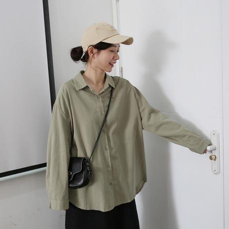 シャツ レディース レトロシャツ 長袖 ヒップシャツ おしゃれ ゆったり 春 夏 秋 2162