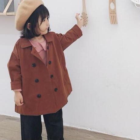 子供服 キッズ 女の子 トレンチコート スプリングコート アウター ジャケット おしゃれ 通学 春 秋 1834