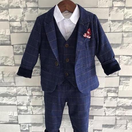 子供服 キッズ ボーイズ スーツ セット フォーマル 紳士服 入学式 卒業式 春 秋 1787