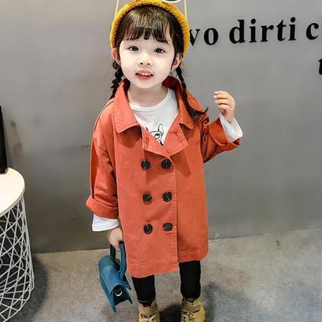 子供服 キッズ 女の子 トレンチコート スプリングコート アウター ジャケット おしゃれ 通学 春 秋 1832