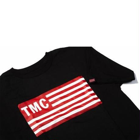 TMC Flag Tee  Black x Red