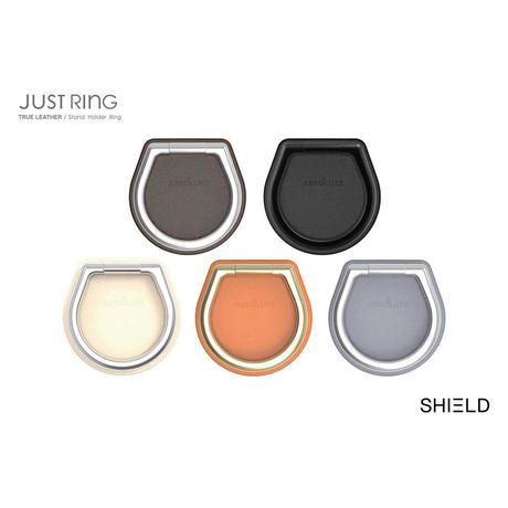 ABSOLUTE・JUST RING / True Leatherシリーズ SHIELD スマートフォンリング