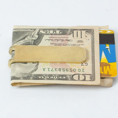 Craighill・Square Money Clip - Brass
