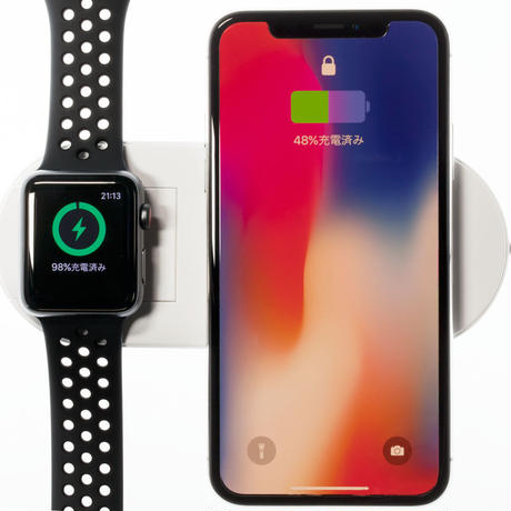 Wireless Charger II・急速ワイヤレス充電器 & Apple Watchスタンド