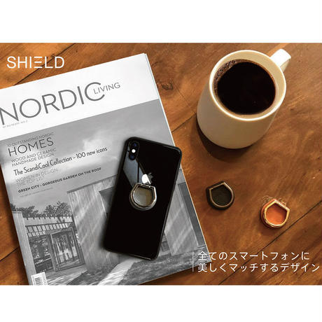 ABSOLUTE・JUST RING / True Leatherシリーズ SHIELD スマートフォンリング