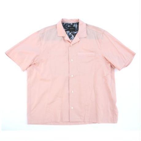Open Collar SS Shirt - Tencel Lawn / Pink