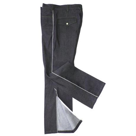 Cowboy zip trouser - Tencel denim / Indigo