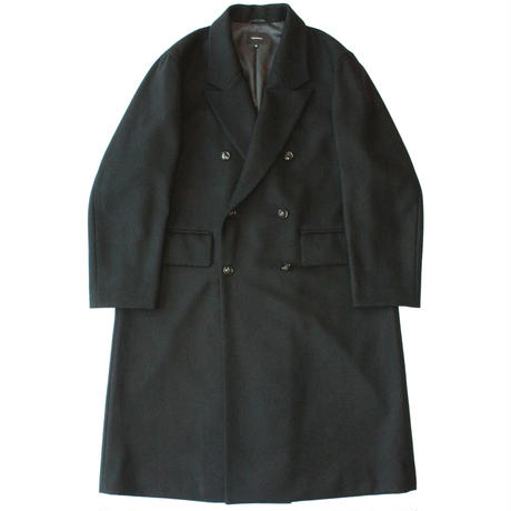 Double chester coat - Melton / Black