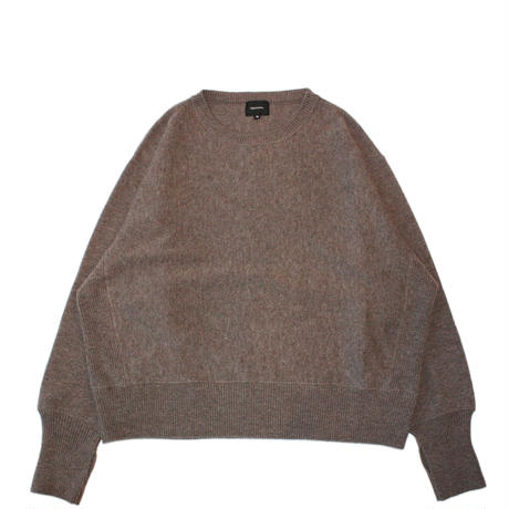 Crew neck knit sweater - Lamb's wool / Mocha