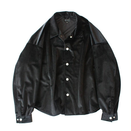 Big shirt jacket - Velour / Black