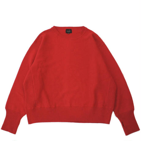 Crew neck knit sweater - Lamb's wool / Red
