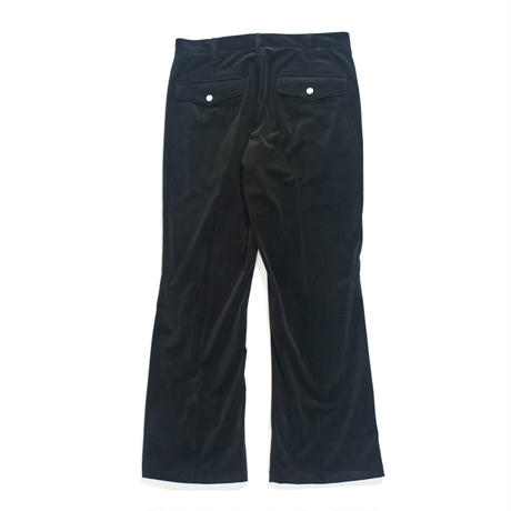 Cowboy Zip Trouser - Velour twill / Black