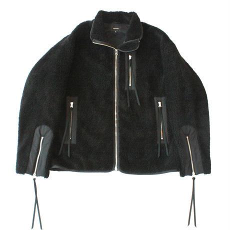 Retro pile riders jacket / Black