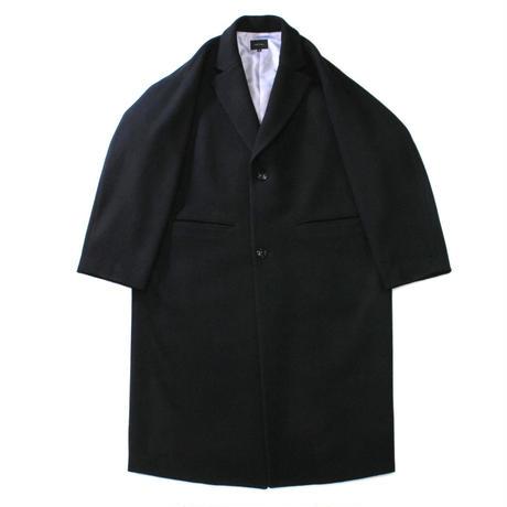 Melton chester coat / Black