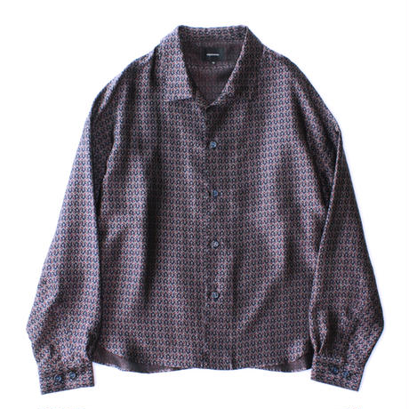 Big shirt jacket - Paisley jacquard