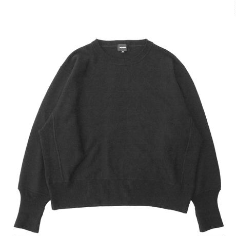 Crew neck knit sweater - Lamb's wool / Black