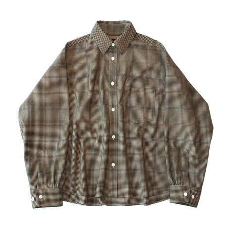 Big regular shirt - Multi check / Beige