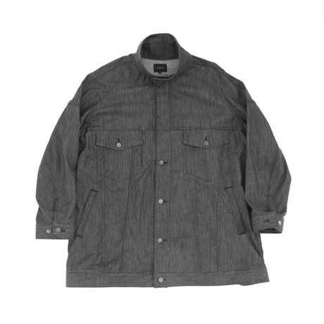 Big Jean Track Coat  - Tencel Denim Blk
