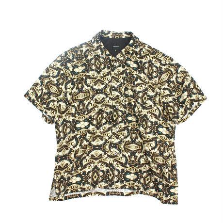 Open Collar SS Shirt - Swallowtail / Yellow