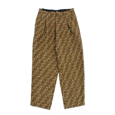 2 tuck wide trouser - Leopard