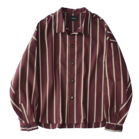 Big shirt jacket - Tencel stripe / Enji