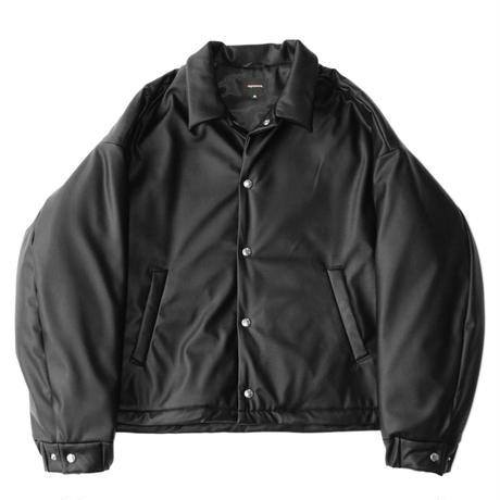 Padding coach jacket - Fake leather / Black