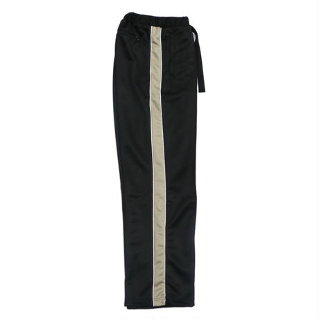 Straight track pants / Black x Beige