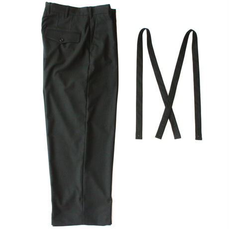 Classic wide trouser - Solid / Black