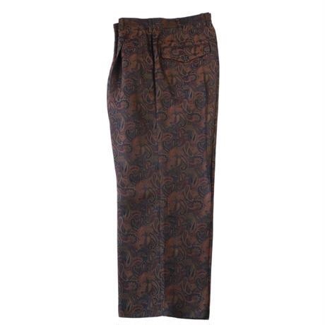 1 tuck wide trouser - Paisley jacquard