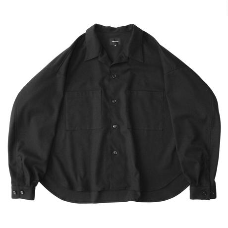 Big shirt jacket 弐 - Solid / Black
