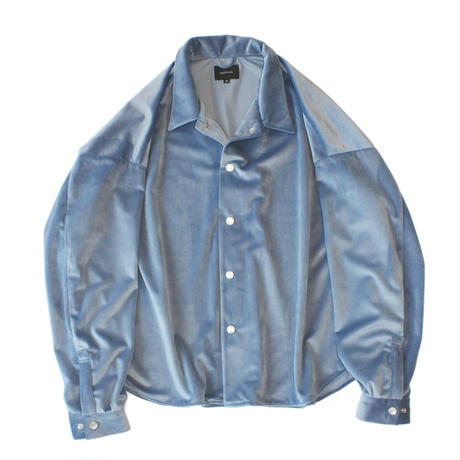 Big shirt jacket - Velour / Sax