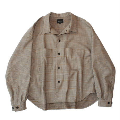 Big shirt jacket 弐 - Glen check / Brown