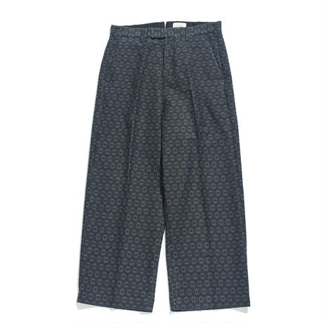 No tuck wide trouser - Jacquard / Flower