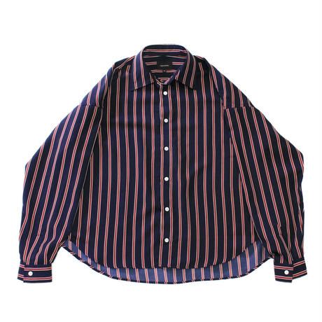 Big regular shirt - Regimental stripes / Navy x Red