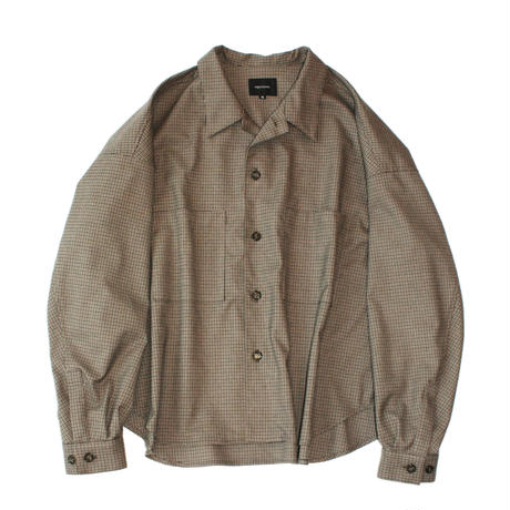 Big shirt jacket 弐 - Gun club check / Moss